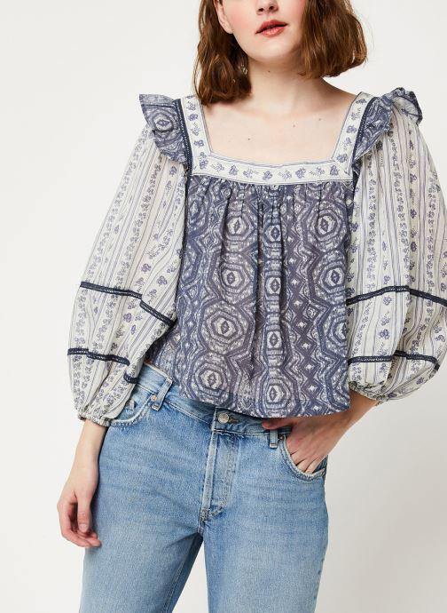 Vêtements Free People MOSTYL MEADOW BLOUSE Beige vue détail/paire