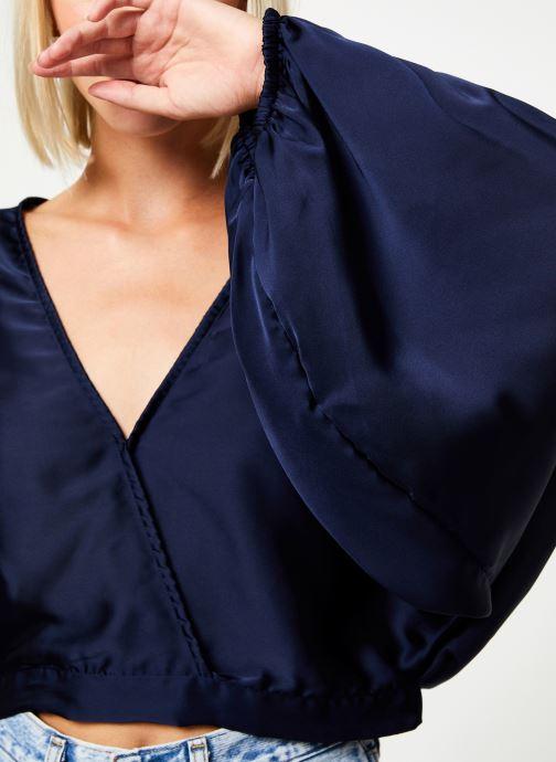 Vêtements Free People MIDNIGHT VIBES BLOUSE Bleu vue face