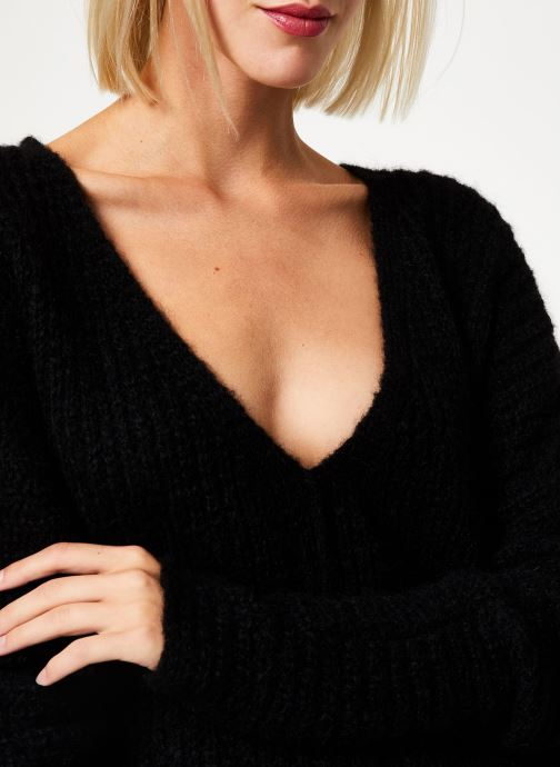 Vêtements Free People MOONBEAM V PULLOVER Noir vue face
