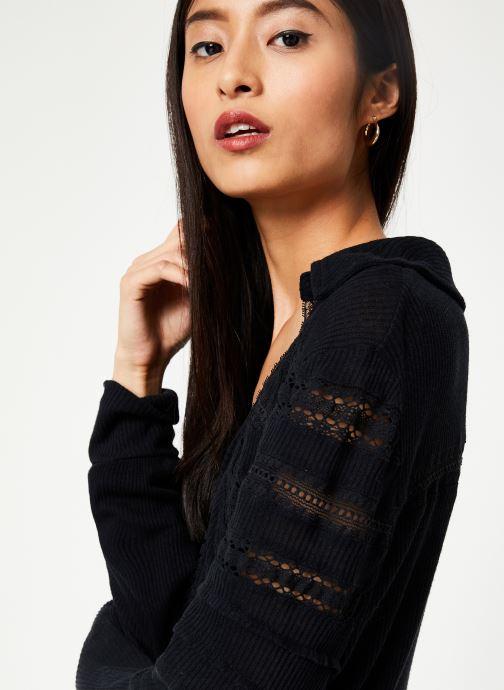 Vêtements Free People SET TO STUN TOP Noir vue face