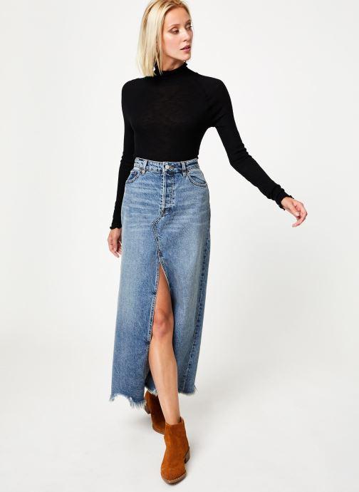 Vêtements Free People MAKE IT EASY THERMAL Noir vue bas / vue portée sac