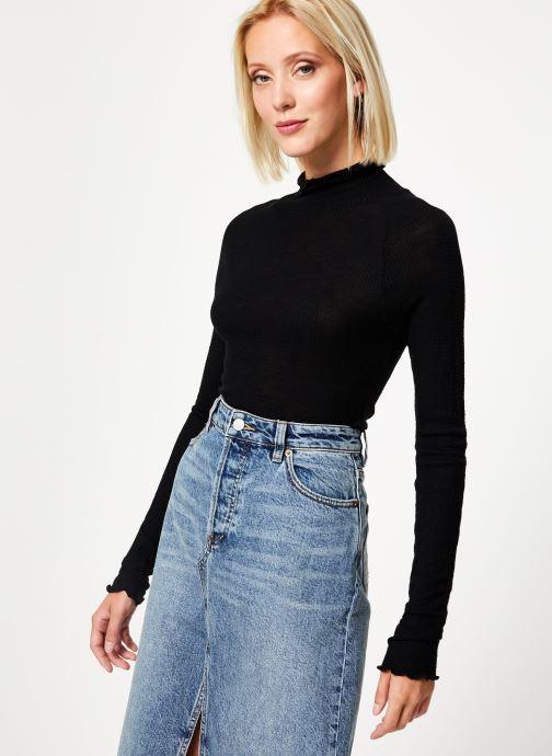 Vêtements Free People MAKE IT EASY THERMAL Noir vue droite