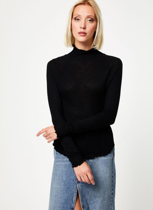 Vêtements Free People MAKE IT EASY THERMAL Noir vue détail/paire