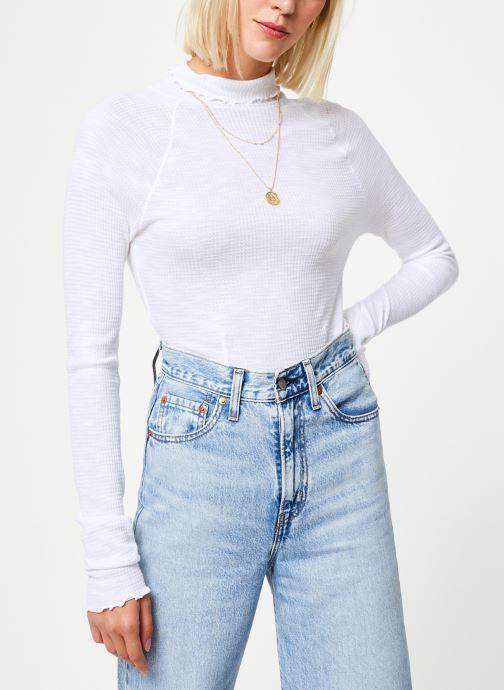 Vêtements Free People MAKE IT EASY THERMAL Blanc vue droite