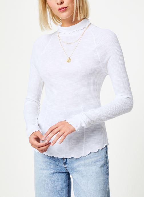Vêtements Free People MAKE IT EASY THERMAL Blanc vue détail/paire