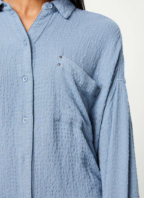 Vêtements Free People SOLID HIDDEN VALLEY BUTTONDOWN Bleu vue face