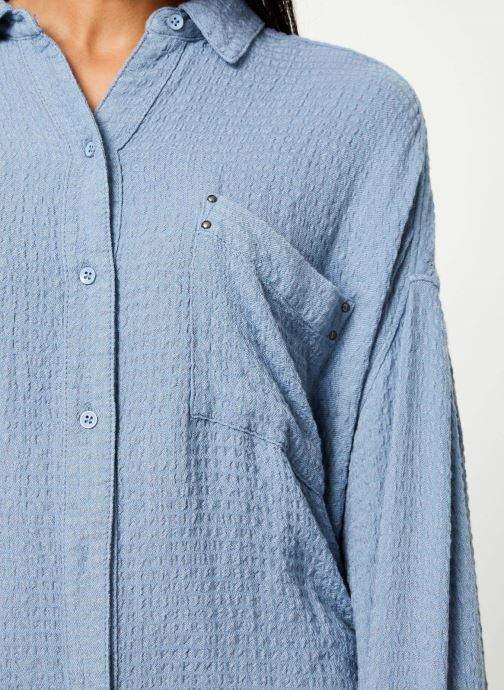 Vêtements Free People SOLID HIDDEN VALLEY BUTTONDOWN Bleu vue face