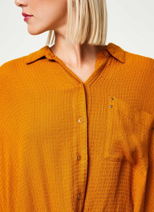 Vêtements Free People SOLID HIDDEN VALLEY BUTTONDOWN Jaune vue face