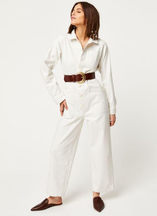 Vêtements Free People GIA OVERALL Blanc vue bas / vue portée sac