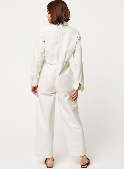 Vêtements Free People GIA OVERALL Blanc vue portées chaussures