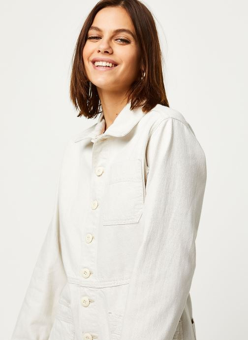 Vêtements Free People GIA OVERALL Blanc vue face