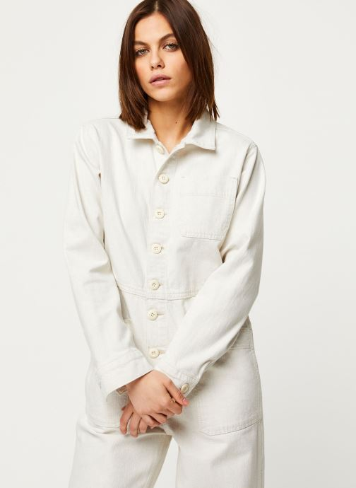 Vêtements Free People GIA OVERALL Blanc vue droite