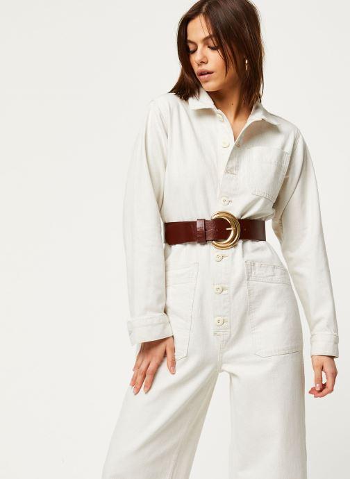 Vêtements Free People GIA OVERALL Blanc vue détail/paire