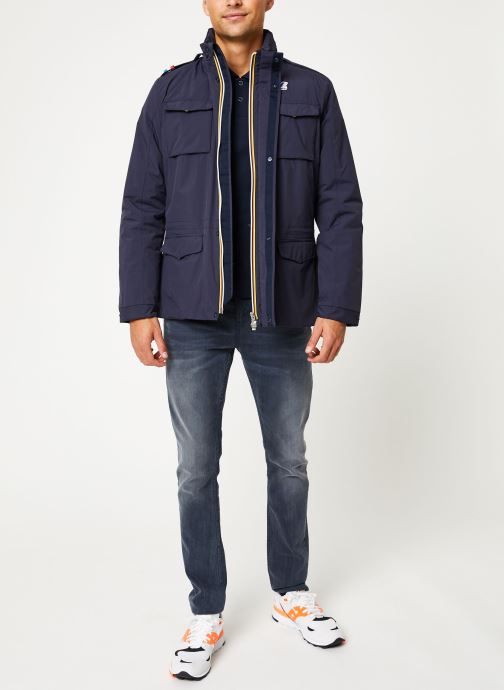 Vêtements K-Way  MANFIELD RIPSTOP MARMOTTA C Bleu vue bas / vue portée sac