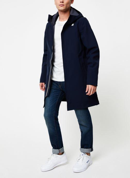 Vêtements K-Way  THOMAS BONDED C Bleu vue bas / vue portée sac
