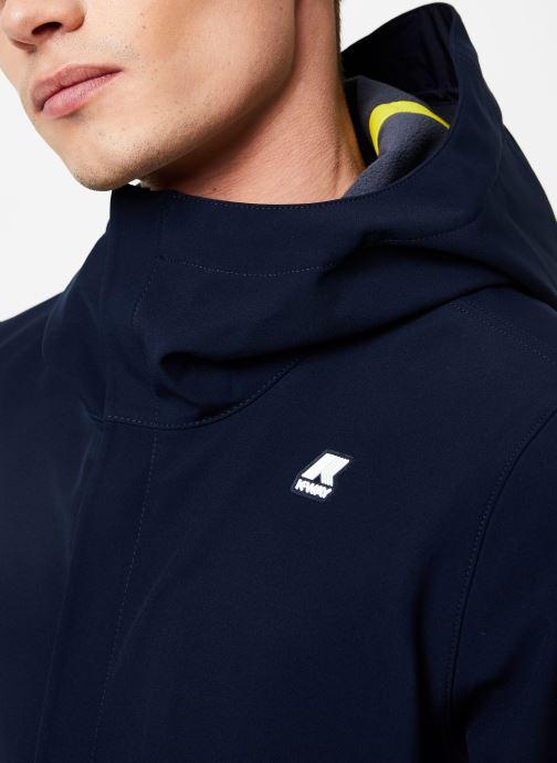 Vêtements K-Way  THOMAS BONDED C Bleu vue face