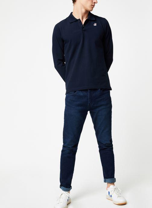 Vêtements K-Way  ROCHEL STRETCH C Bleu vue bas / vue portée sac