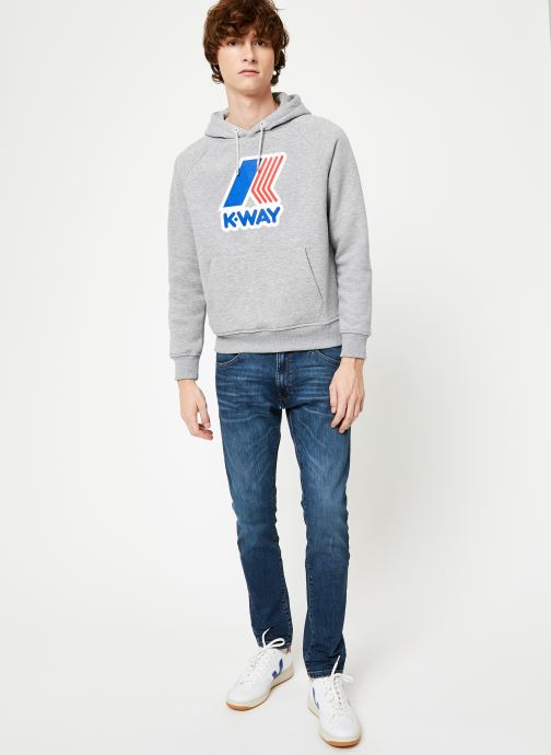 Vêtements K-Way  LOKI MACRO LOGO C Gris vue bas / vue portée sac