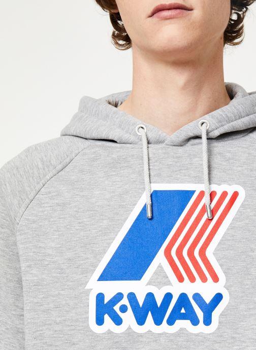 Vêtements K-Way  LOKI MACRO LOGO C Gris vue face