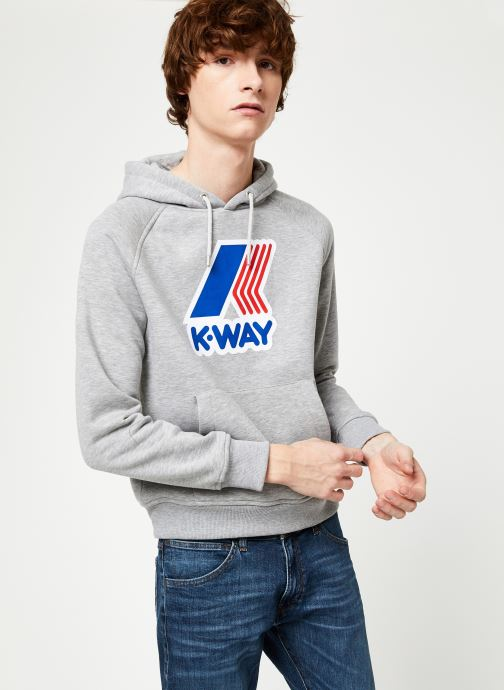 Vêtements K-Way  LOKI MACRO LOGO C Gris vue droite