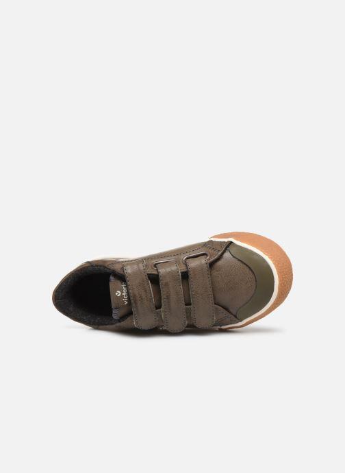 Baskets Victoria Tribu Baket Velcros Pu/B Gris vue gauche