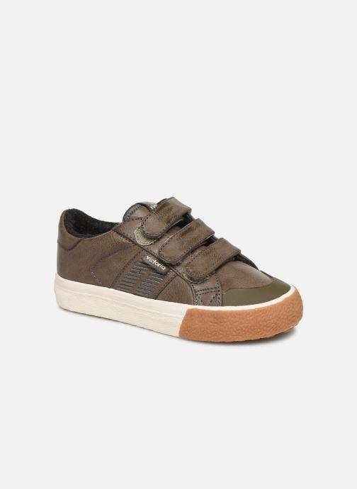 Baskets Victoria Tribu Baket Velcros Pu/B Gris vue détail/paire