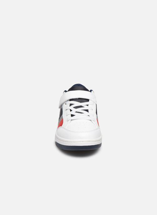 Baskets Polo Ralph Lauren Belden PS Blanc vue portées chaussures