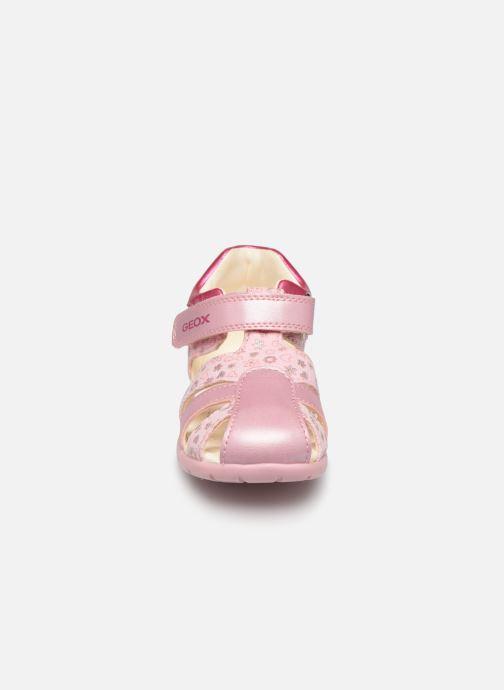 Sandales et nu-pieds Geox B Elthan G.B Canvas Rose vue portées chaussures
