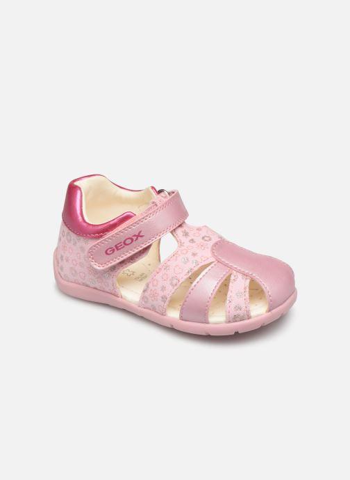 Sandales et nu-pieds Geox B Elthan G.B Canvas Rose vue détail/paire