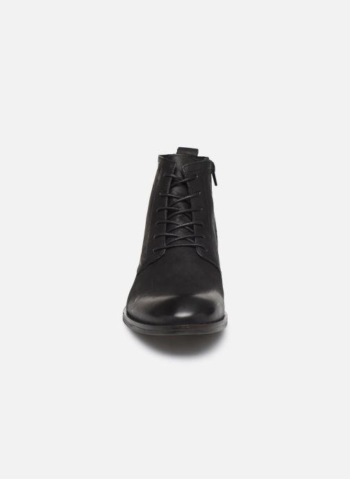 Bottines et boots Bianco BIABYRON LEATHER LACE UP BOOT 56-71692 Noir vue portées chaussures