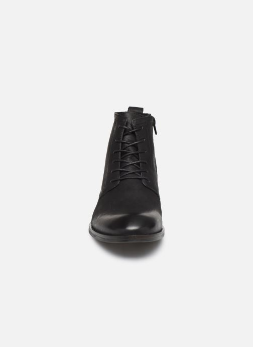Bottines et boots Bianco BIABYRON LEATHER LACE UP BOOT 56-71692 Noir vue portées chaussures