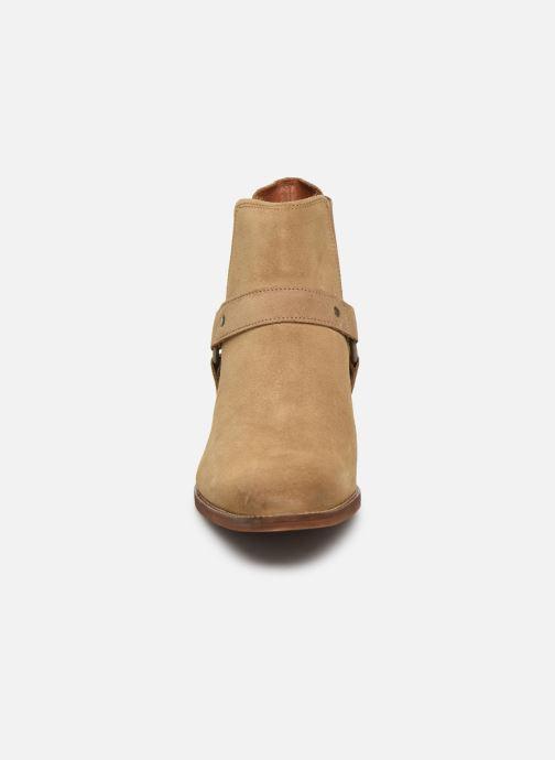 Boots en enkellaarsjes Bianco BIABEACK SUEDE WESTERN 56-71767 Beige model