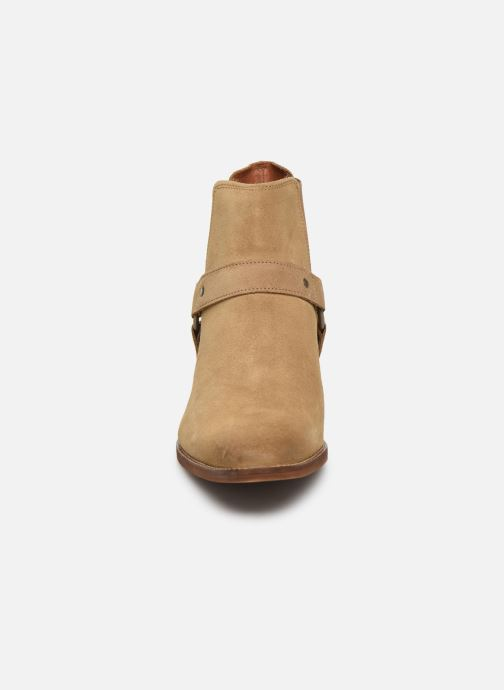 Bottines et boots Bianco BIABEACK SUEDE WESTERN 56-71767 Beige vue portées chaussures