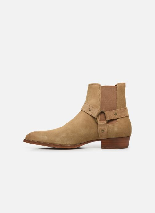 Ankle boots Bianco BIABEACK SUEDE WESTERN 56-71767 Beige front view