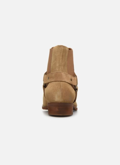 Ankle boots Bianco BIABEACK SUEDE WESTERN 56-71767 Beige view from the right