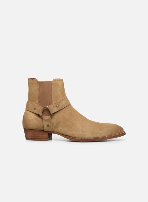 Ankle boots Bianco BIABEACK SUEDE WESTERN 56-71767 Beige back view