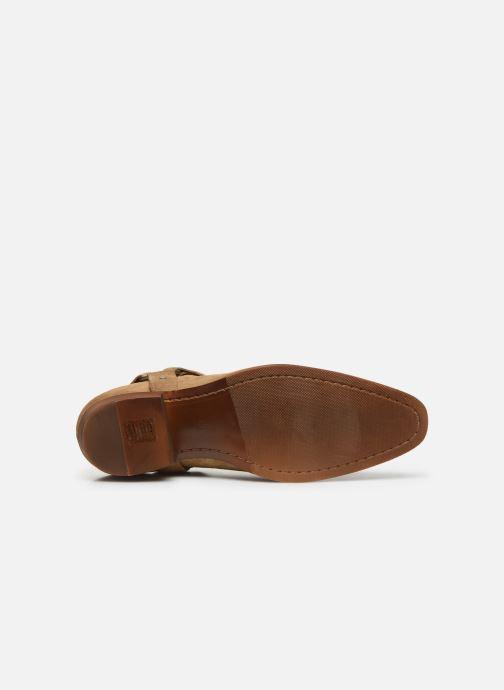Boots en enkellaarsjes Bianco BIABEACK SUEDE WESTERN 56-71767 Beige boven