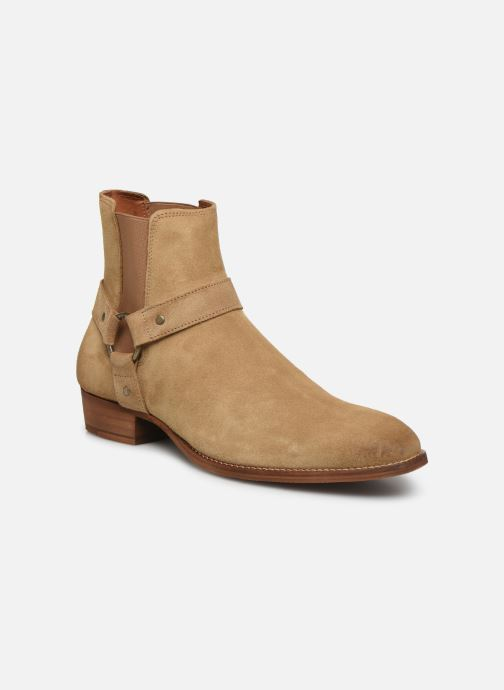 Boots en enkellaarsjes Bianco BIABEACK SUEDE WESTERN 56-71767 Beige detail