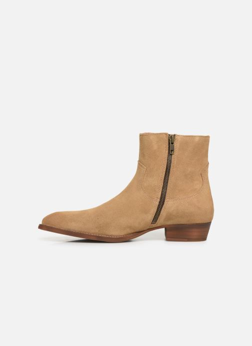 Ankle boots Bianco BIABEACK SUEDE BOOT 56-71768 Beige front view