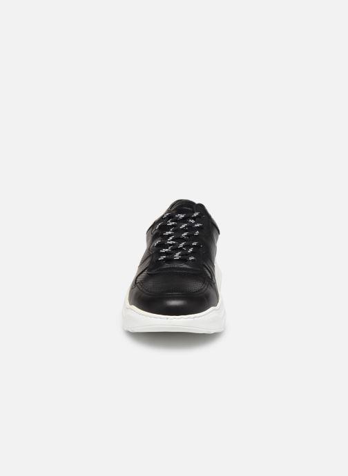 Baskets Bianco BIABAY PERF LEATHER SNEAKER 64-71743 Noir vue portées chaussures