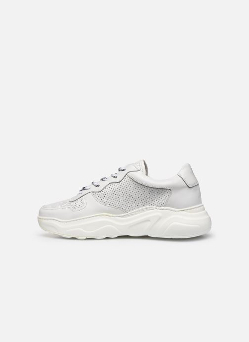 Baskets Bianco BIABAY PERF LEATHER SNEAKER 64-71743 Blanc vue face