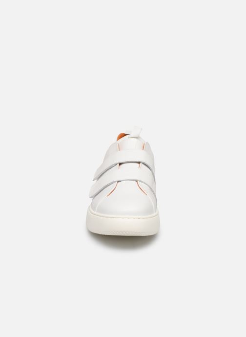 Trainers Bianco BIAKING TWIN  STRAP SNEAKER 64-71744 White model view