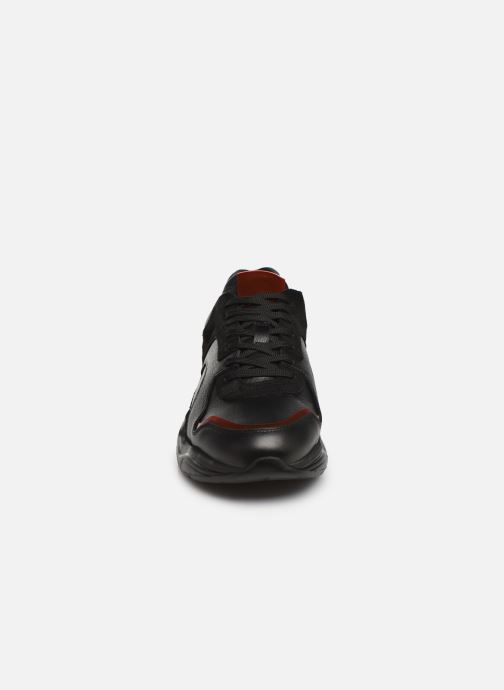 Baskets Bianco BIACALIX LEATHER SNEAKER 64-71792 Noir vue portées chaussures