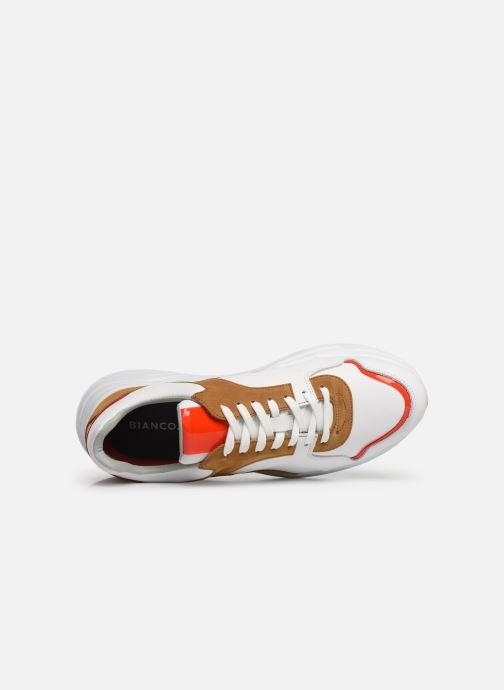 Baskets Bianco BIACALIX LEATHER SNEAKER 64-71792 Multicolore vue gauche