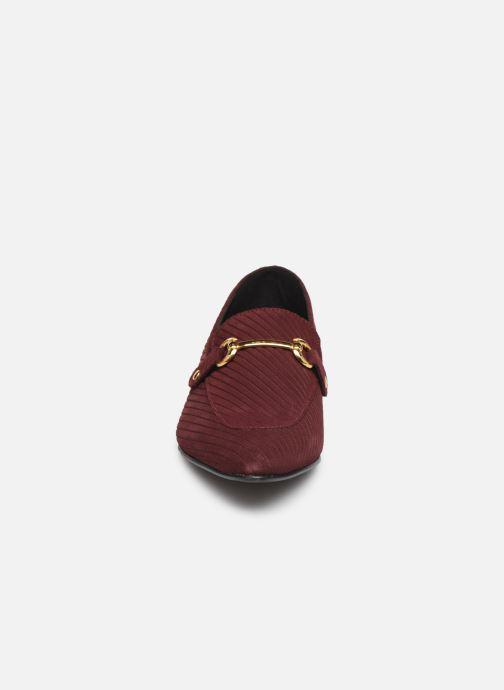 Mocassins Bianco BIABRENDA SUEDE LOAFER 25-50305 Bordeaux vue portées chaussures