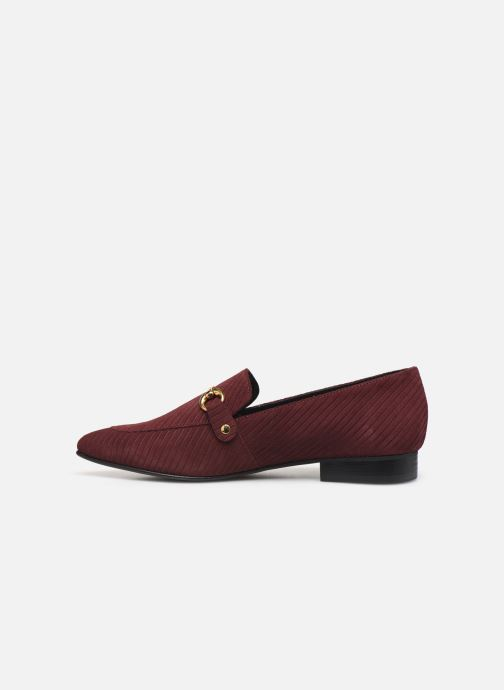Loafers Bianco BIABRENDA SUEDE LOAFER 25-50305 Burgundy front view