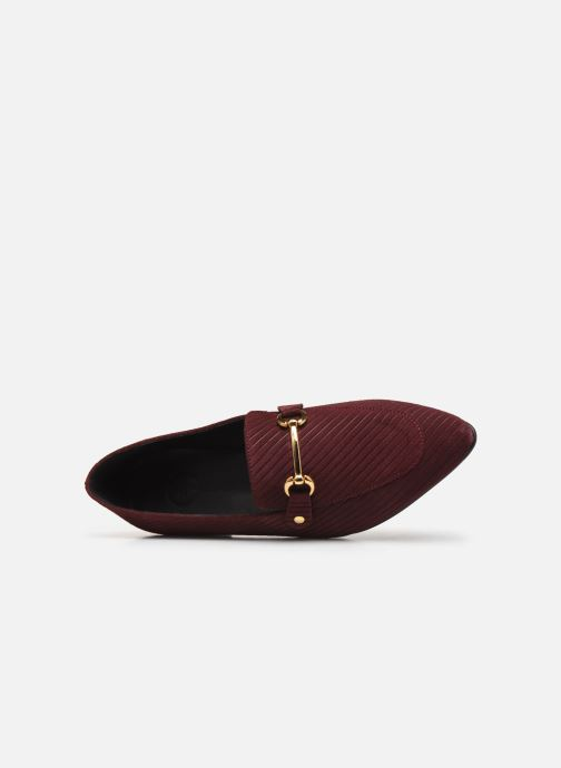 Loafers Bianco BIABRENDA SUEDE LOAFER 25-50305 Burgundy view from the left