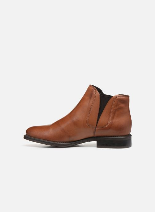 Ankle boots Bianco BIACHARME LEATHER V SPLIT BOOT 26-49595 Brown front view