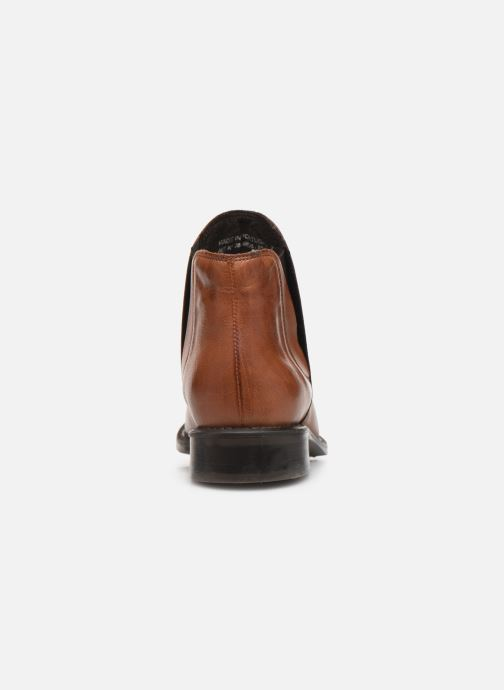 Ankle boots Bianco BIACHARME LEATHER V SPLIT BOOT 26-49595 Brown view from the right