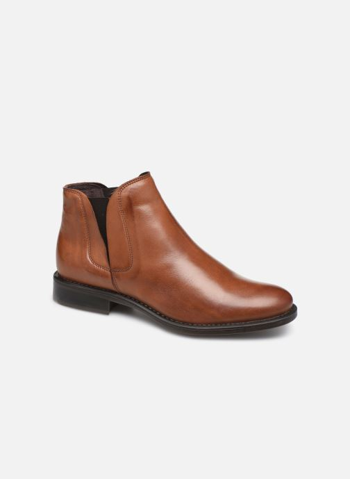 Ankle boots Bianco BIACHARME LEATHER V SPLIT BOOT 26-49595 Brown detailed view/ Pair view